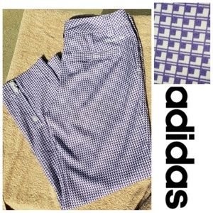 Adidas Purple White Cropped Ankle Pants Size 6